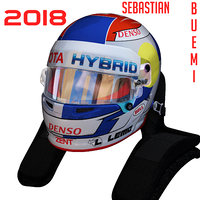 3D buemi wec helmet model