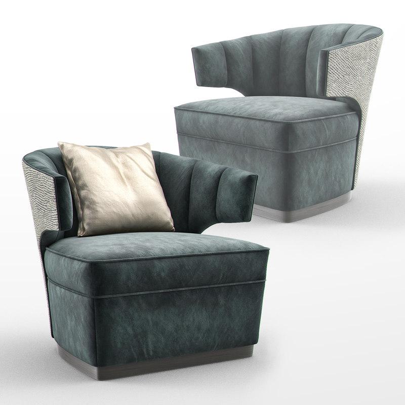 gibbs occasional armchair sofa 3D