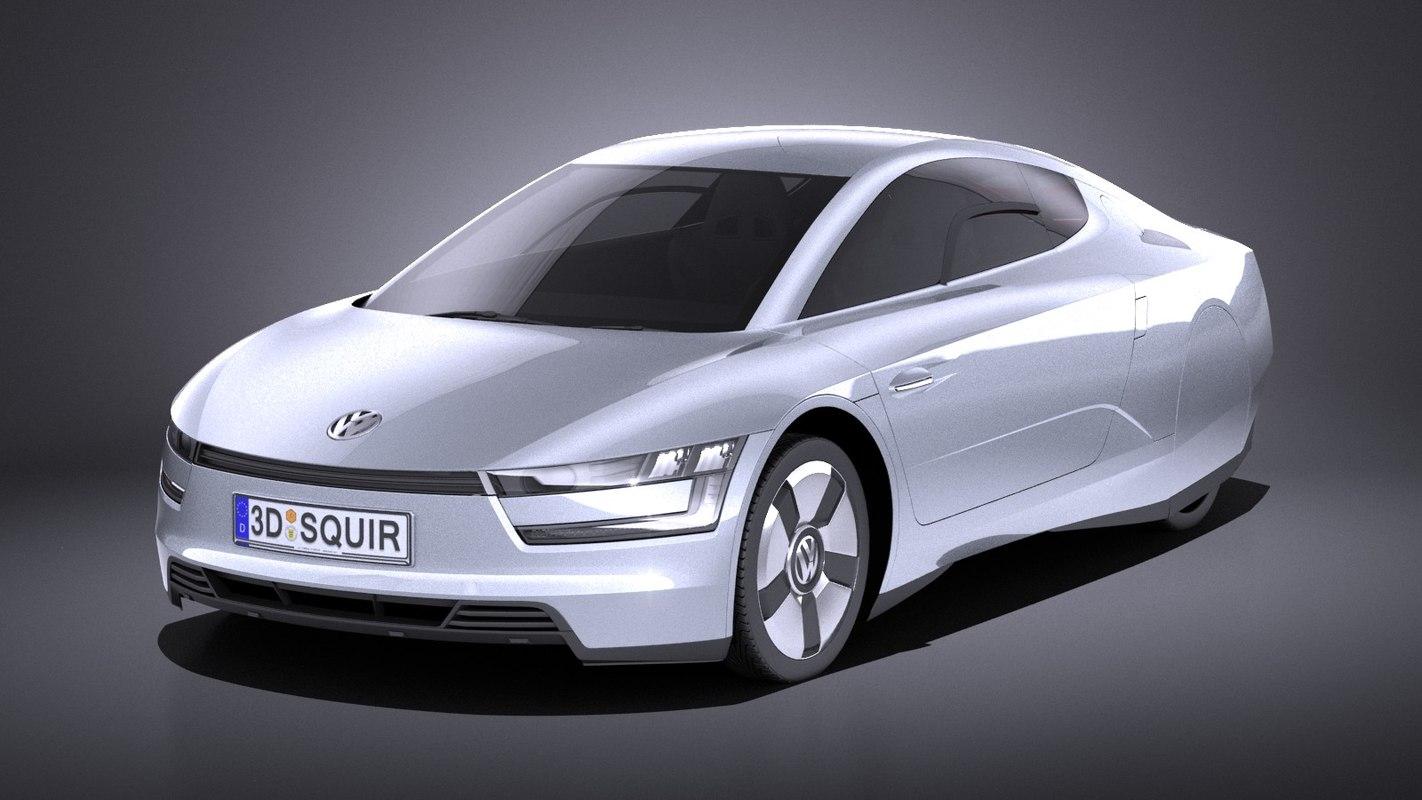 3D model 2014 volkswagen xl1
