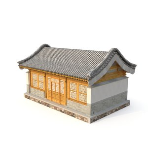 3D ancient chinese architecture distribution model