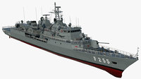 3D navy ship orucreis f245