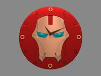 clock ironman 3D model