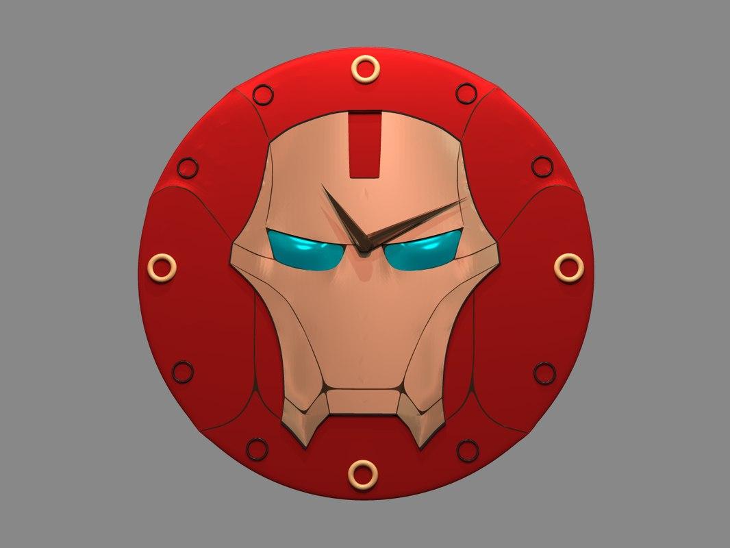 clock ironman 3D model