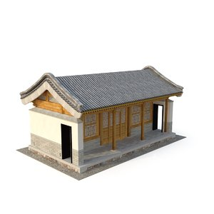 3D model ancient chinese architecture distribution