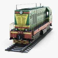 3D soviet diesel locomotive chme2