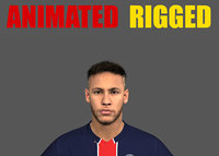 Neymar Jr Animated Rigged 3D