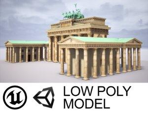 3D brandenburg gate model