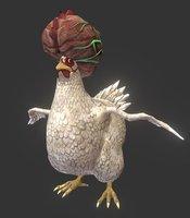 3D mutant hen bird