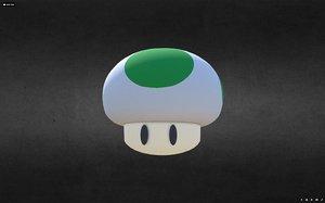 mushrooms extra life 3D model