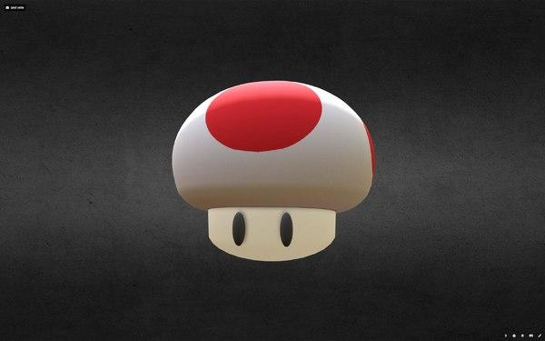 3D mushroom mario model