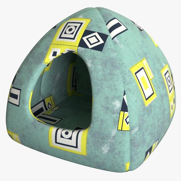 3D realistic cat house