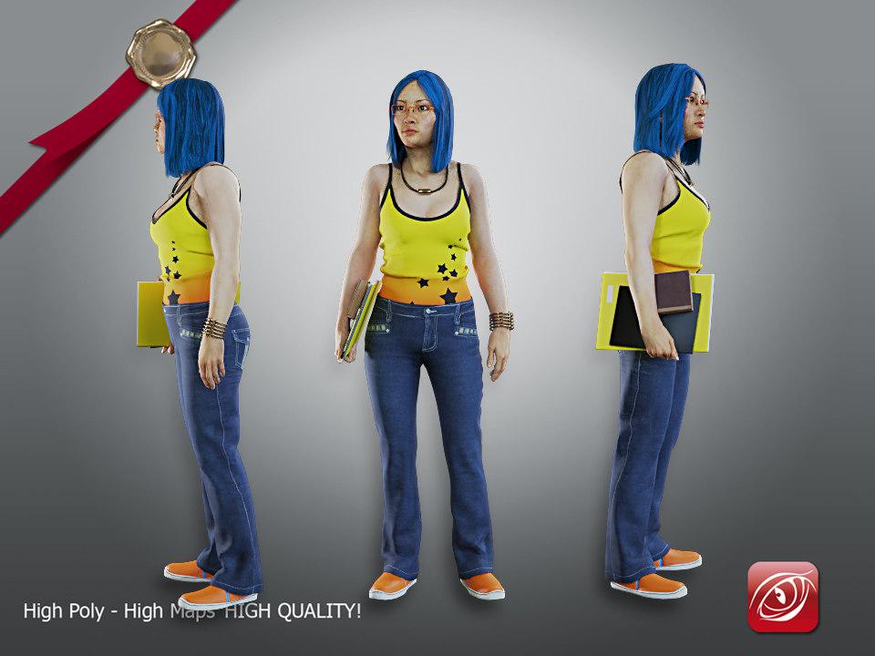 female student aas 002 model