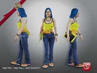 female student aas 003 3D model