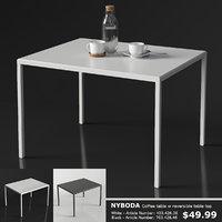 3D model ikea nyboda coffee table