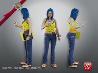 female student aas 005 model