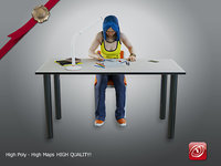 female student aas 006 3D