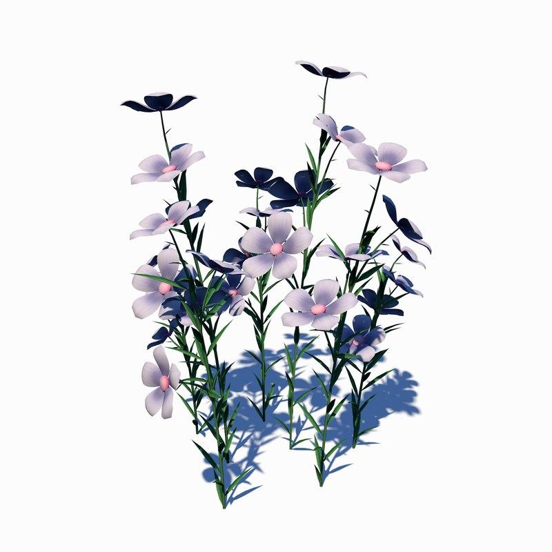3D petunia flower
