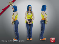 3D model female student aas 007