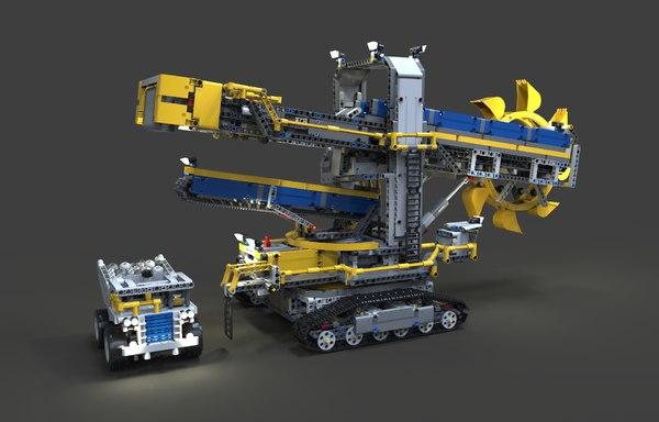 3D wheel excavator lego