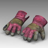 3D glove construction model