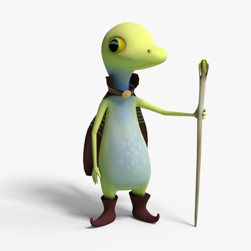 cute gecko 3D model