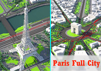 3D paris city