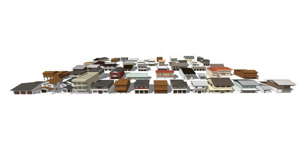 pack old building local 3D model
