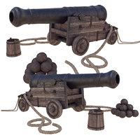 ship gun 3D model