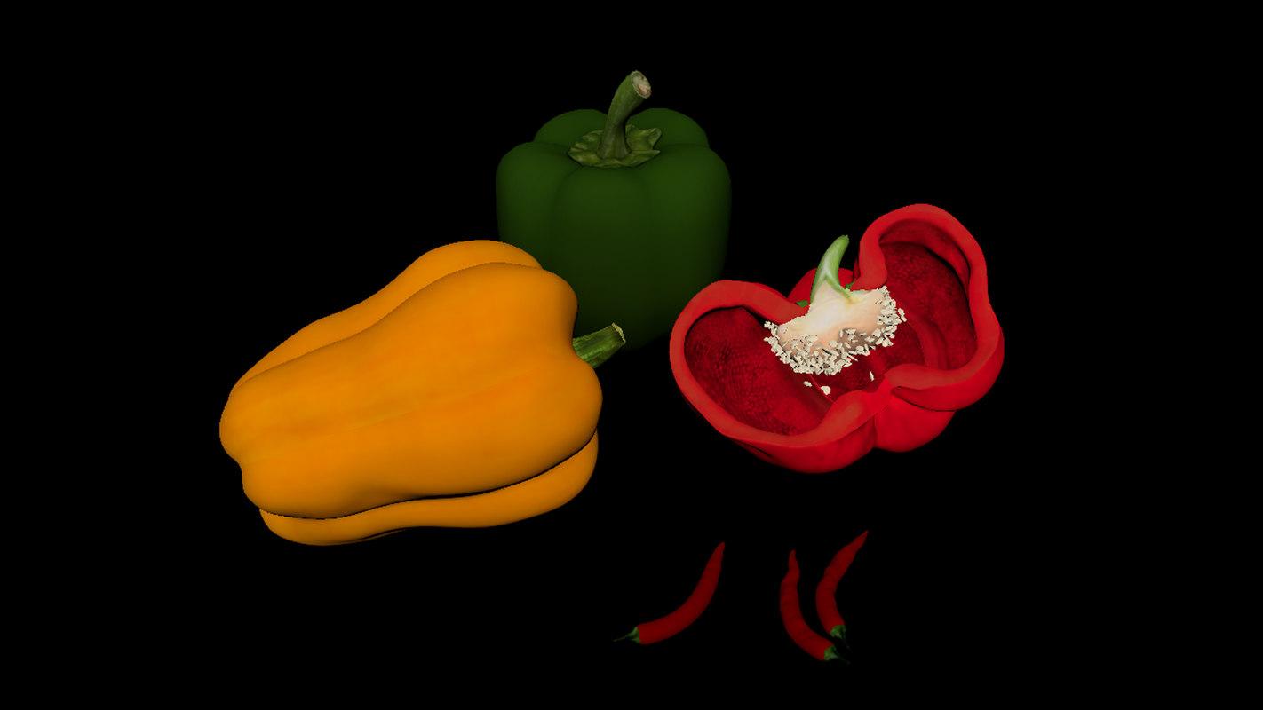 poivron pepper 3D