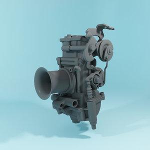 3D model carburetor mikuni tmr