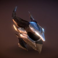 3D skyrim daedric helmet -