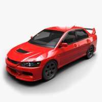 3D mitsubishi lancer evolution model