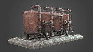 boiler element factory 3D model