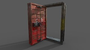 hermetic metal door 3D model