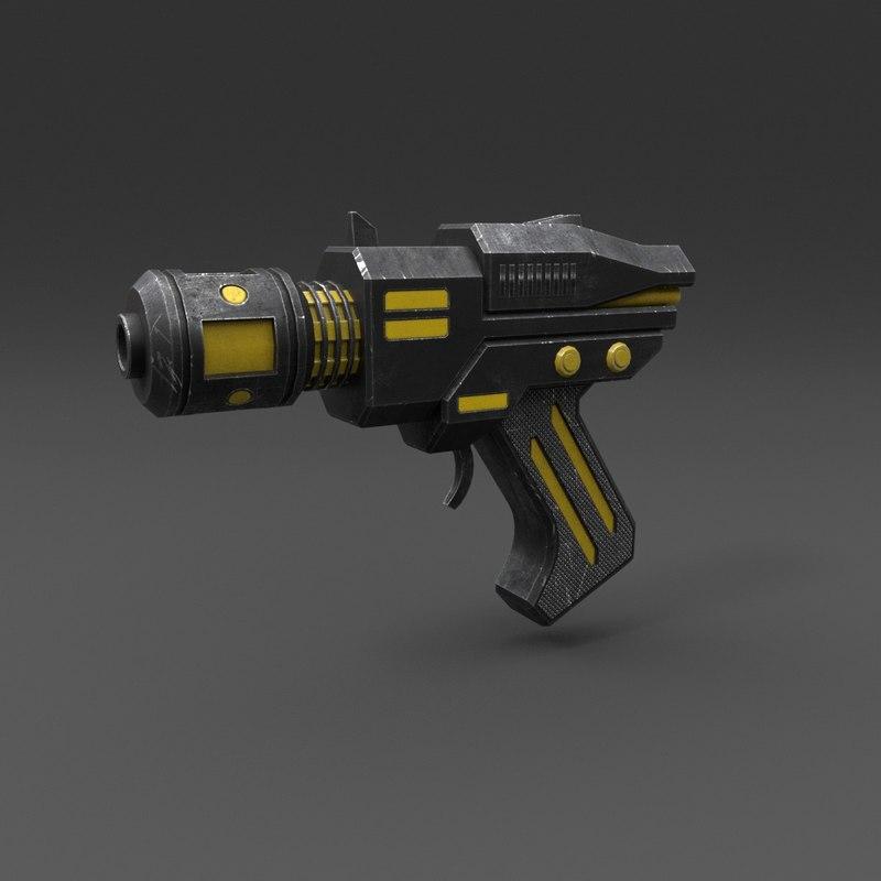 gun pbr details 3D model