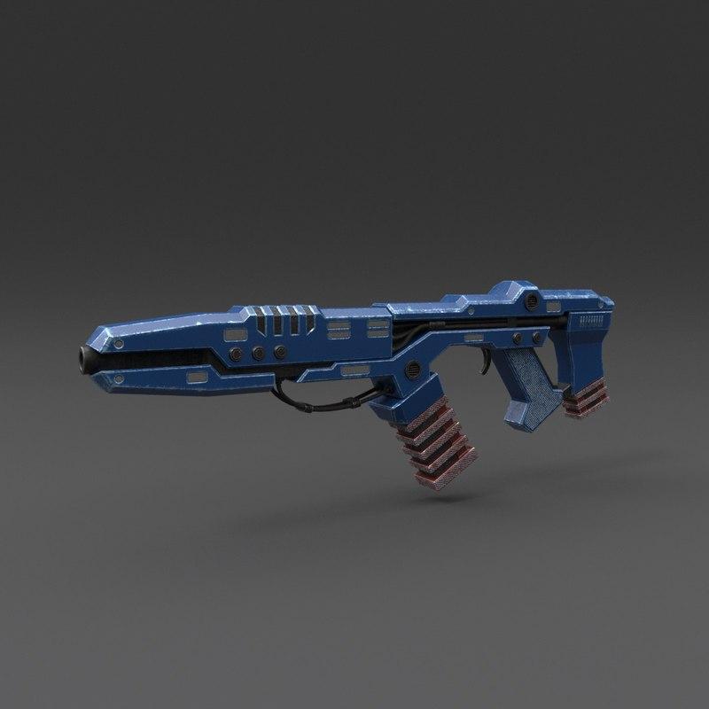 3D rifle pbr details