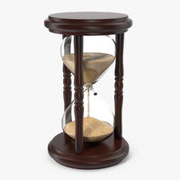 wood hourglass timer time 3D model