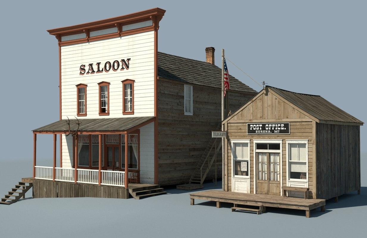 frontier saloon 3D model