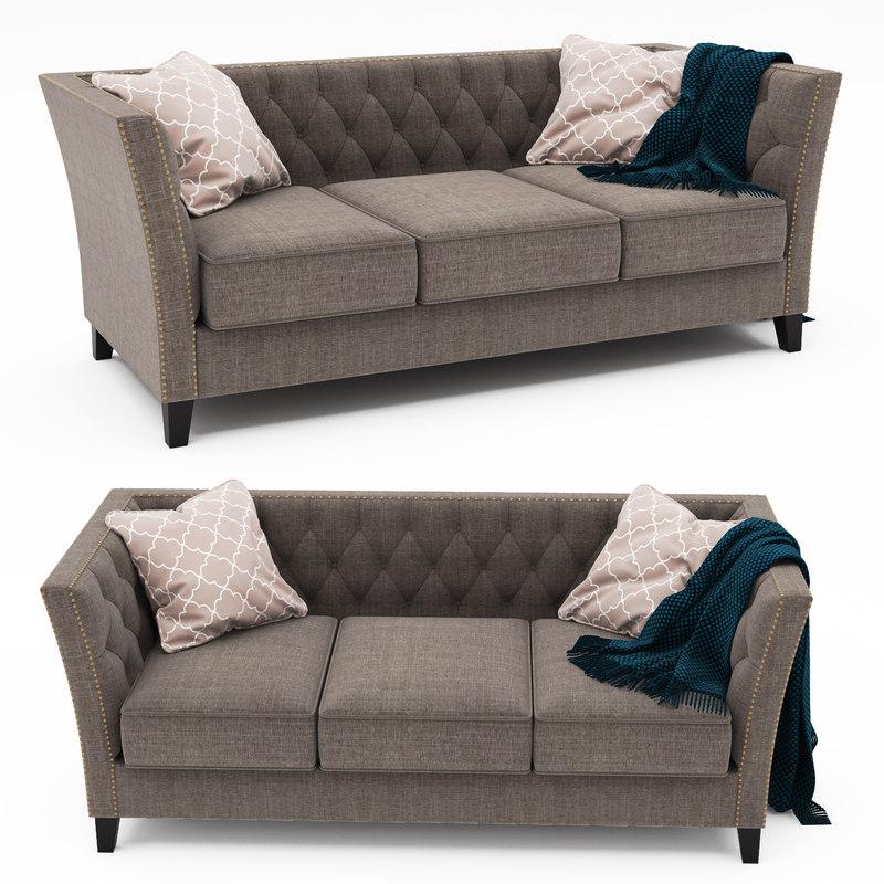 dunstaffnage chesterfield sofa 3D model