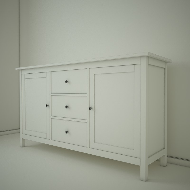 3d Ikea Hemnes Sideboard Model Turbosquid 1297446