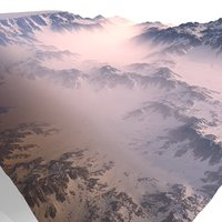 3D model snowy canyon