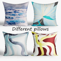 3D decorative pillows westelm set model