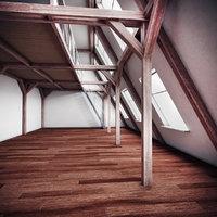 3D model interior wood
