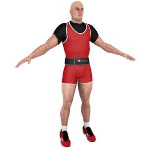 weightlifter games 3D model