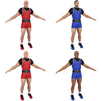 3D model pack weightlifter