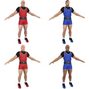 3D model pack weightlifter
