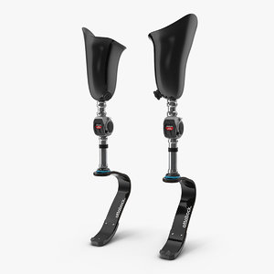 prosthetic legs athletes 3D model