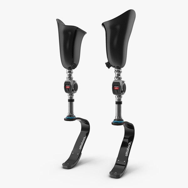 prosthetic legs athletes 3D model