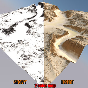 snowy canyon 3D model