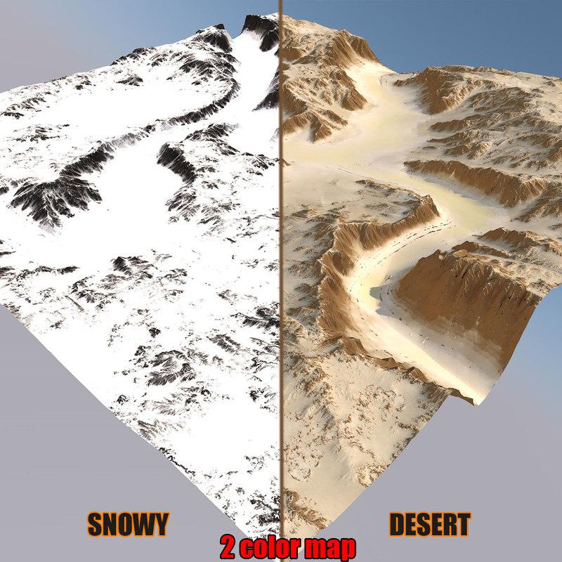 snowy canyon 3D model